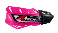 Racetech Neon Pink FLX Standard Handguards With Mount Kit Motocross Enduro